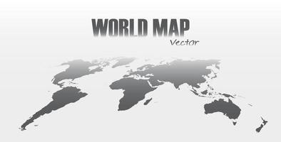 Perspective world map on gray background vector