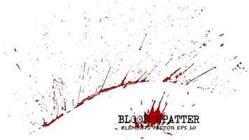 Blood splatter elements on white background  Criminal concept  Vector