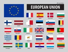 Flags of European Union and members vector