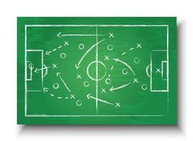 Soccer cup formation and tactic  Blackboard with football game strategy   Vector for international world championship tournament 2018 concept