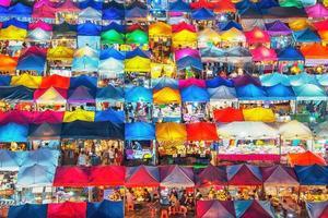 Train Night Market in Bangkok photo