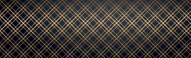 Abstract golden lines on a black background vector