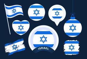 colección de vectores de la bandera de israel