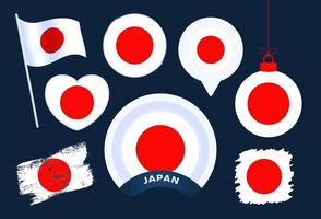 japan flag vector collection
