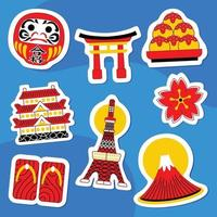 Seoul Sticker Pack in Flat Design Style vector