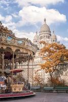 Sacre Coeur Basilica in Montmartre Paris photo