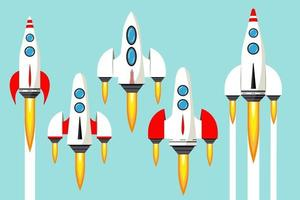 Rocket launch into space Concept of an idea a startup vector