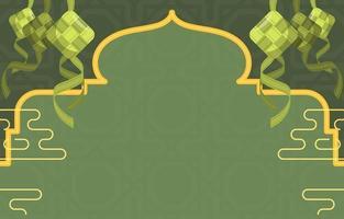 Eid Ketupat Background vector