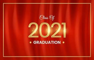 Realistic Red Curtains Graduation Photobooth Background vector
