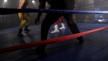 lutadores mascarados lutando em ringue sujo video
