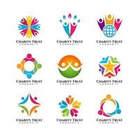Charity and community logo template vector icon