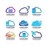 cloud tech logo icon symbol vector