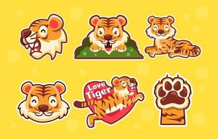 Cute Tiger Humble vector