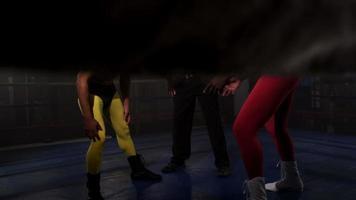lutadores mascarados se preparam para lutar video