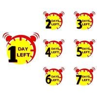 Countdown icon One Day Left vector