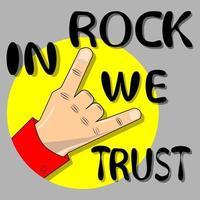 In rock we trust symbol vector