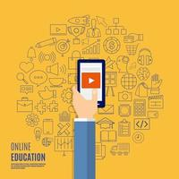Online educations concept vector