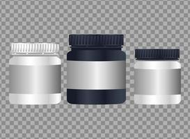 pots products branding isolated icons vector