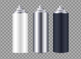 spray bottles branding isolated icons vector