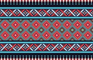 Abstract ethnic geometric pattern design for background or wallpaper pattern traditional Design for a background vector