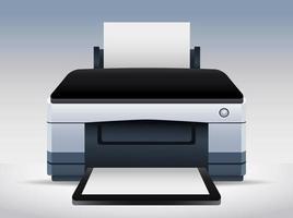 icono de dispositivo de máquina de hardware de impresora vector