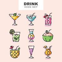 conjunto de iconos de bebida vector