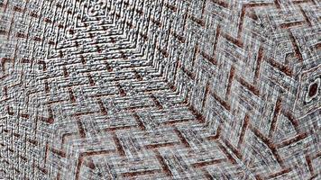 Loop moving rotating grunge stripes checker grid pattern video