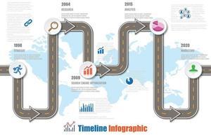 mapa de ruta de negocios ciudad de infografía de línea de tiempo diseñada para fondo abstracto plantilla elemento de hito diagrama moderno tecnología de proceso marketing digital presentación de datos gráfico ilustración vectorial vector