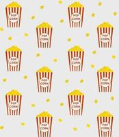 Popcorn in a box or bucket vector seamless pattern Perfect for background wallpaper wrapping paper or fabric