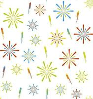 Firework and firecracker seamless vector pattern Perfect for background wallpaper wrapping paper or fabric