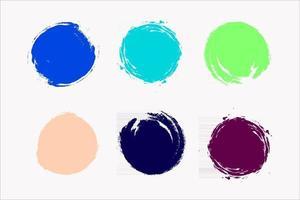 color circles brush vector