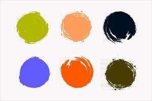 Colorful Ink Drop Icon Set vector