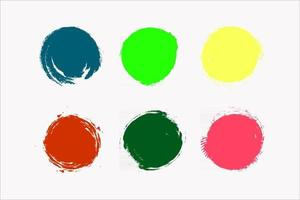 colorful ink stains vector