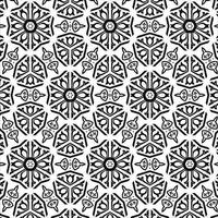 black and white circle pattern vector