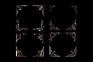 luxury vintage frames vector