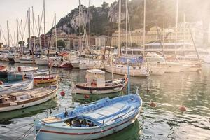 Harbor in the city of Nice on the French Riviera photo