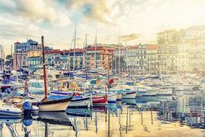Old harbor in the city of Cannes   France photo