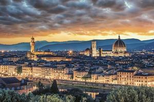 Arquitectura en la ciudad de Florencia Italia foto