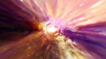 loop tunnel iperspaziale colorato attraverso il vortice spazio-temporale video