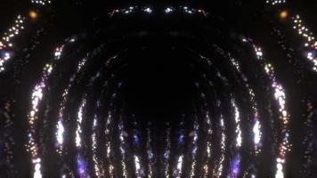 bucle de arte visual de ciencia ficción resplandeciente reluciente arco puerta video