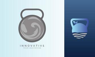 Sea weave vector logo design