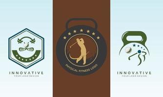 Golf set of logo design idea vector