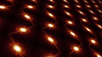 loop de tecnologia cibernética moderna grade de luz estrela dourada video