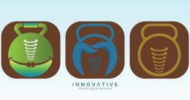 Dental logo set vector logo design