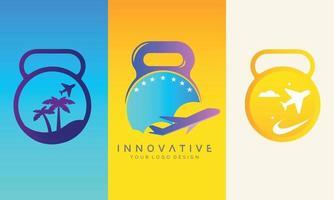 Travel set of vector logo design download