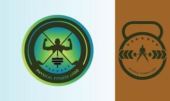 logotipo de fitness con plantilla de golf vector