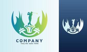 Set of golf vector logo design