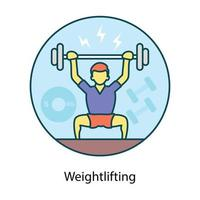 hombre de levantamiento de pesas sosteniendo vector