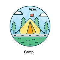 campamento de alojamiento al aire libre vector