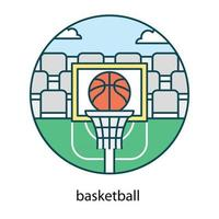 Basketball Goal trendy vector